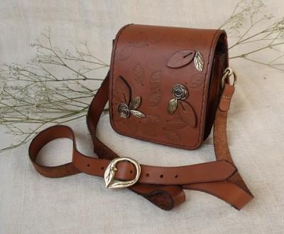 Small Suede Accordion Bag