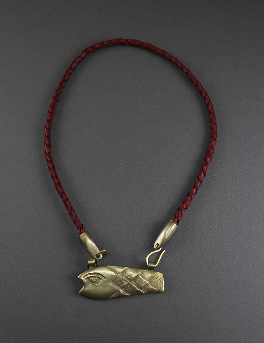 Braid Diamond Shaped Fish Necklace