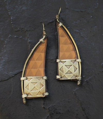 Triangle Smbucsh Earring