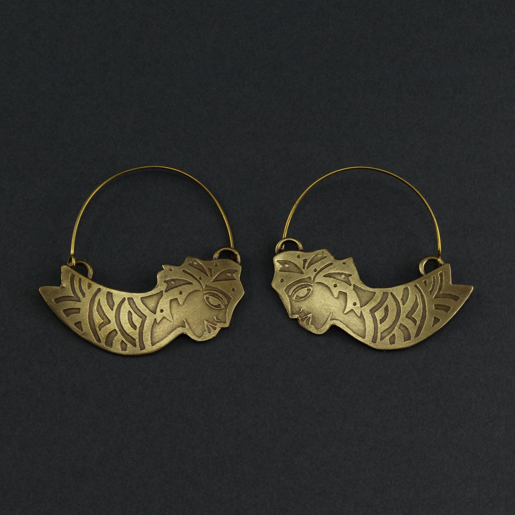 Lined Mermaid Earring