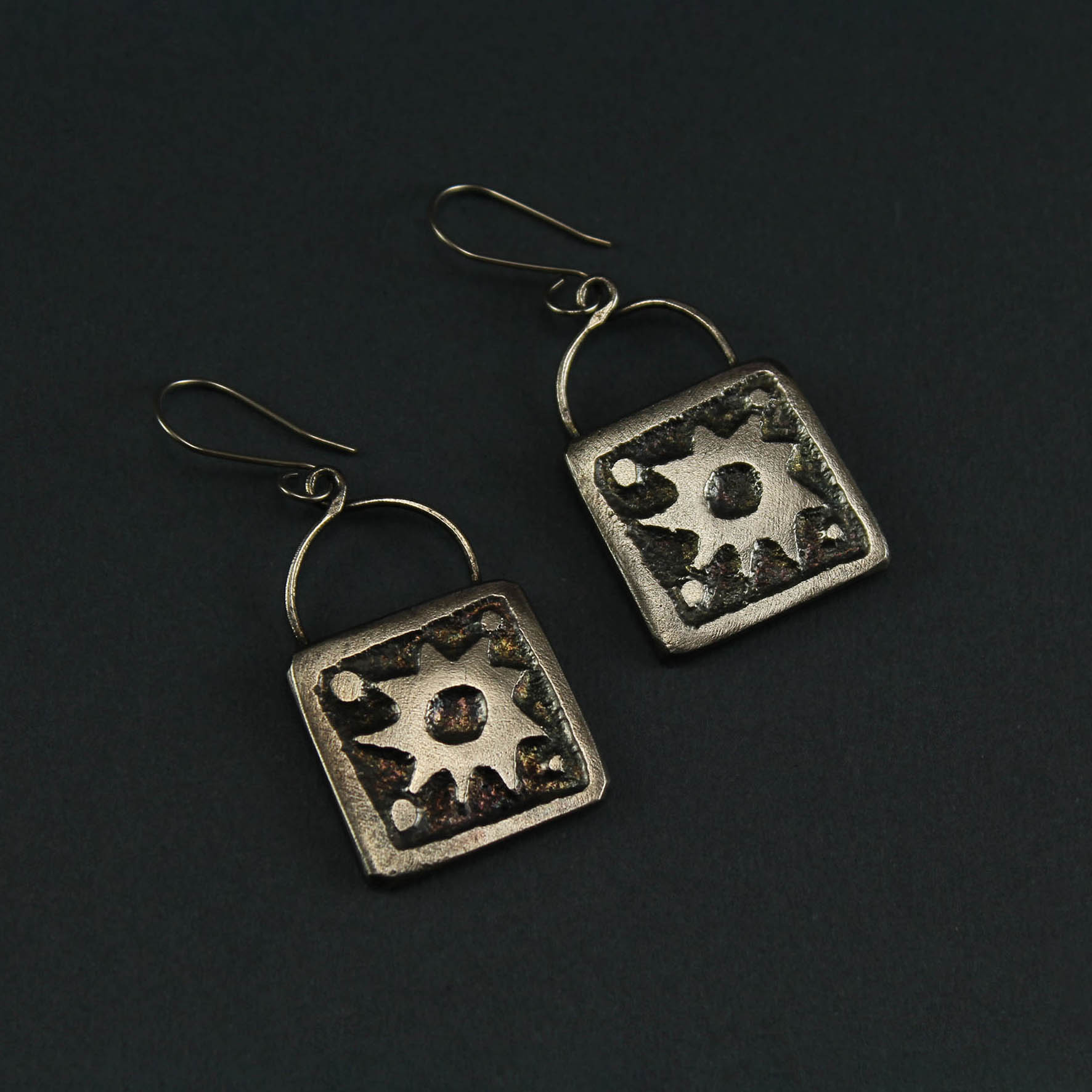 Square Sun Earrings