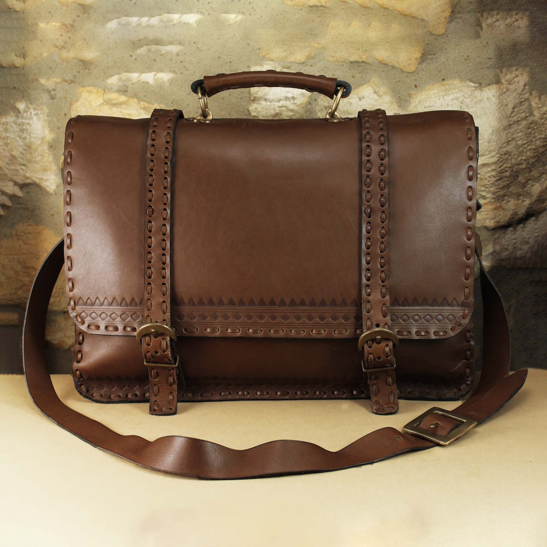 Two Belts large Briefcase