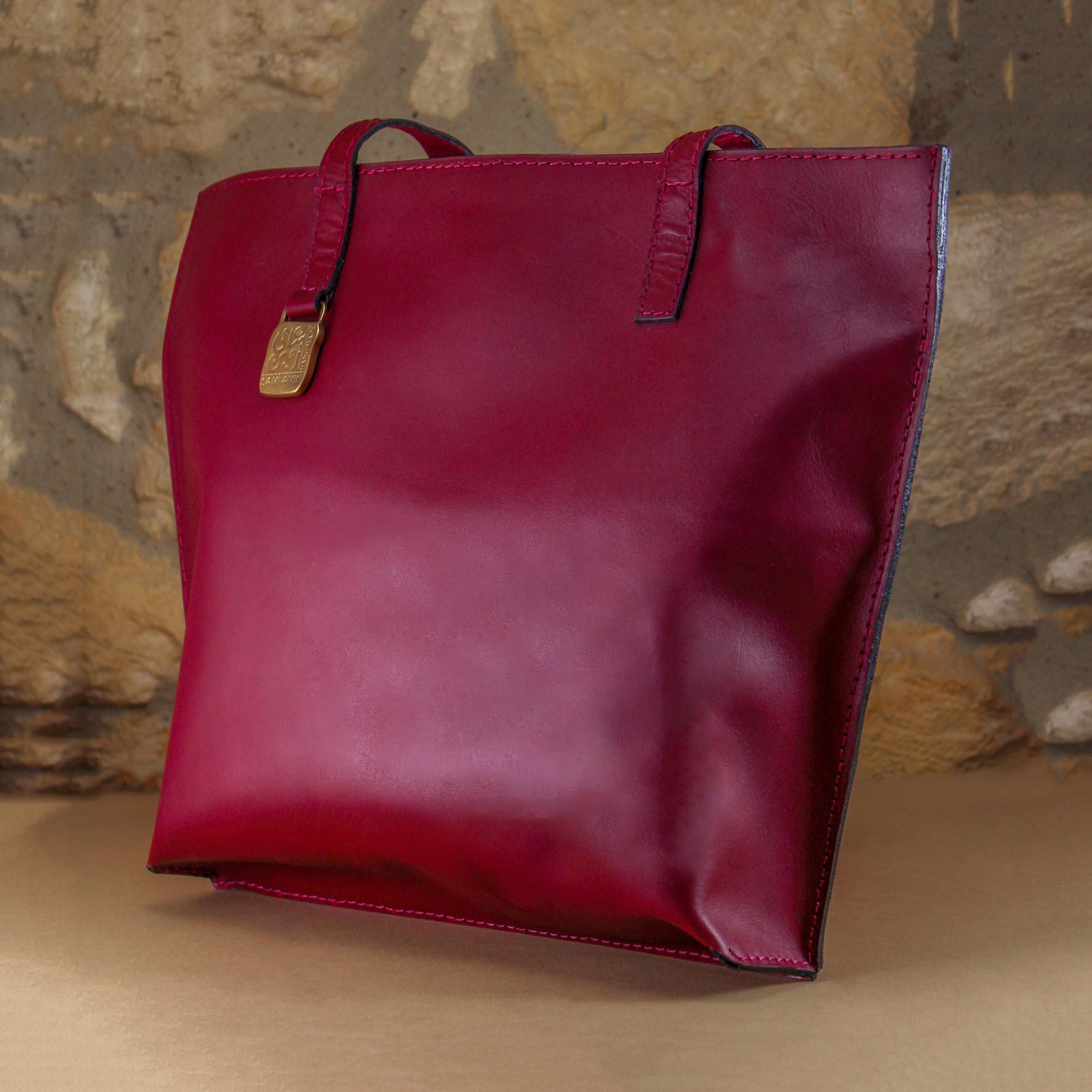 Abo Bakr leather Bag with a zipper