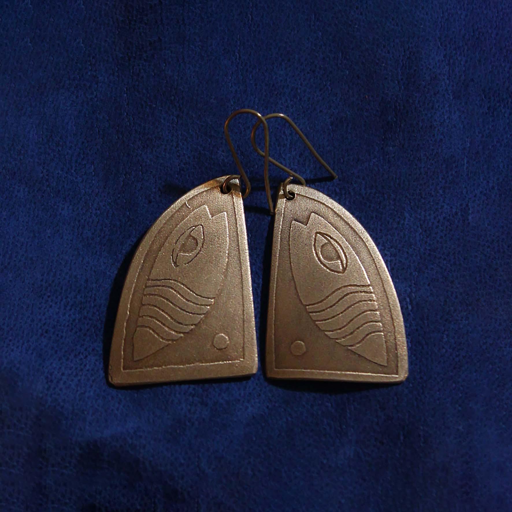 Triangle Fish Earring