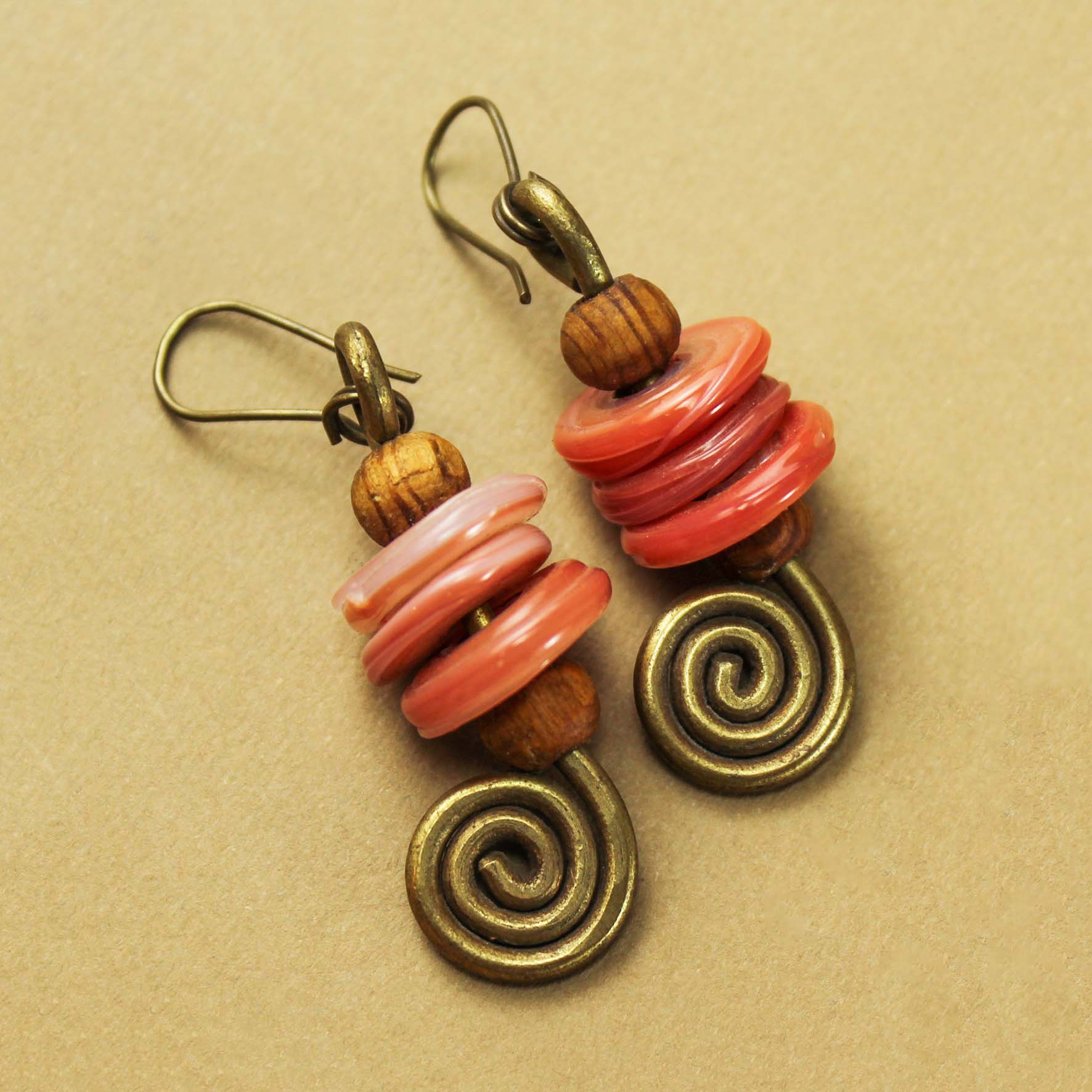 Spiral Glass Earring