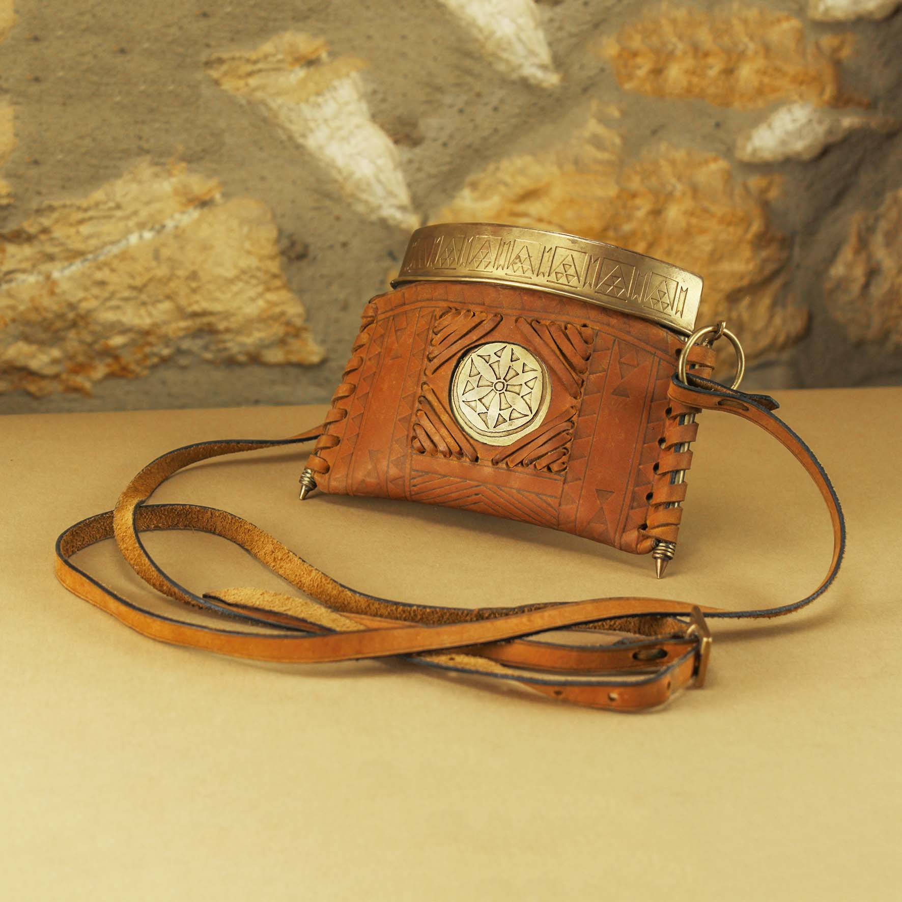 Leather & Brass Bag (Erba)