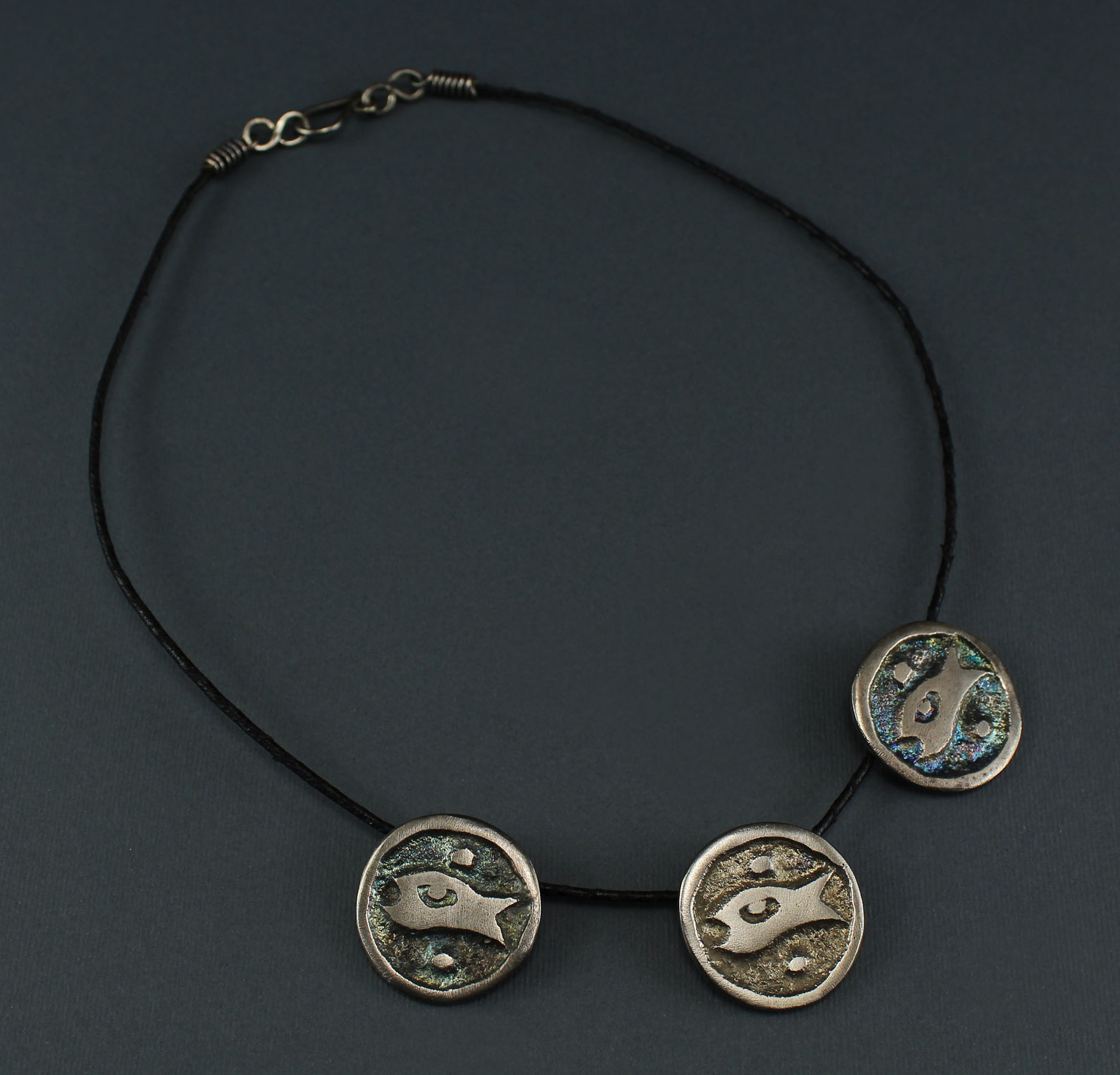 "3 Circle Fish ""Hur"" Necklace"