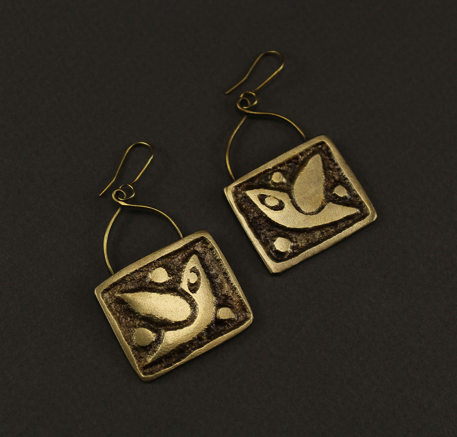 Square Pigeon Earrings