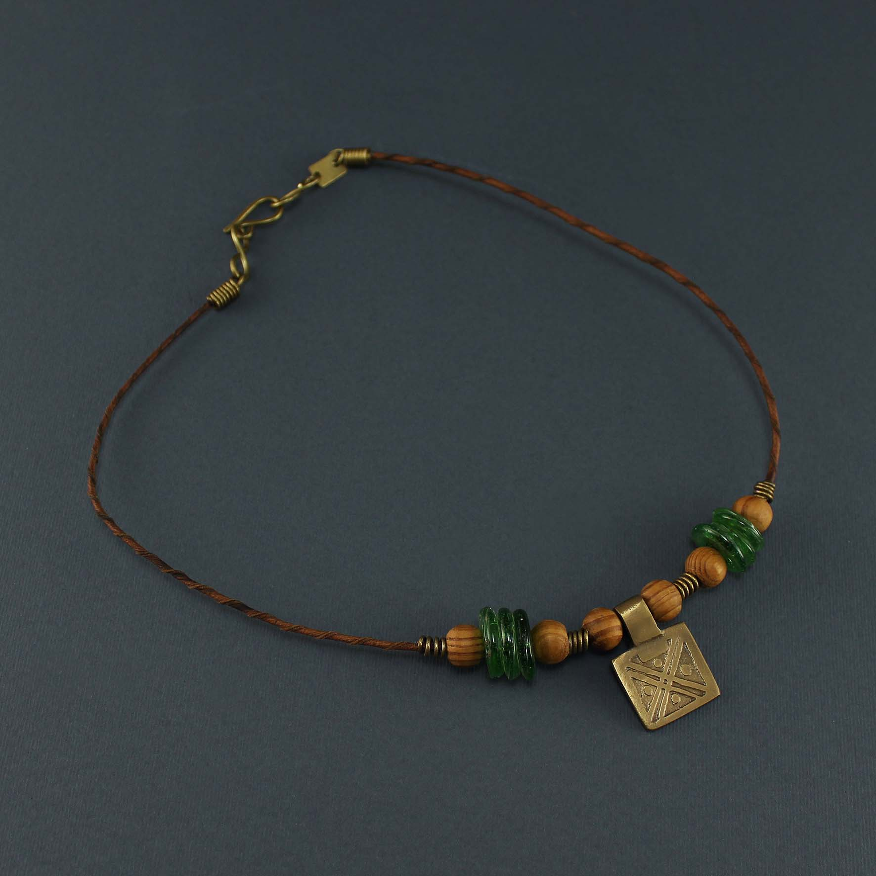 Solid Square Necklace