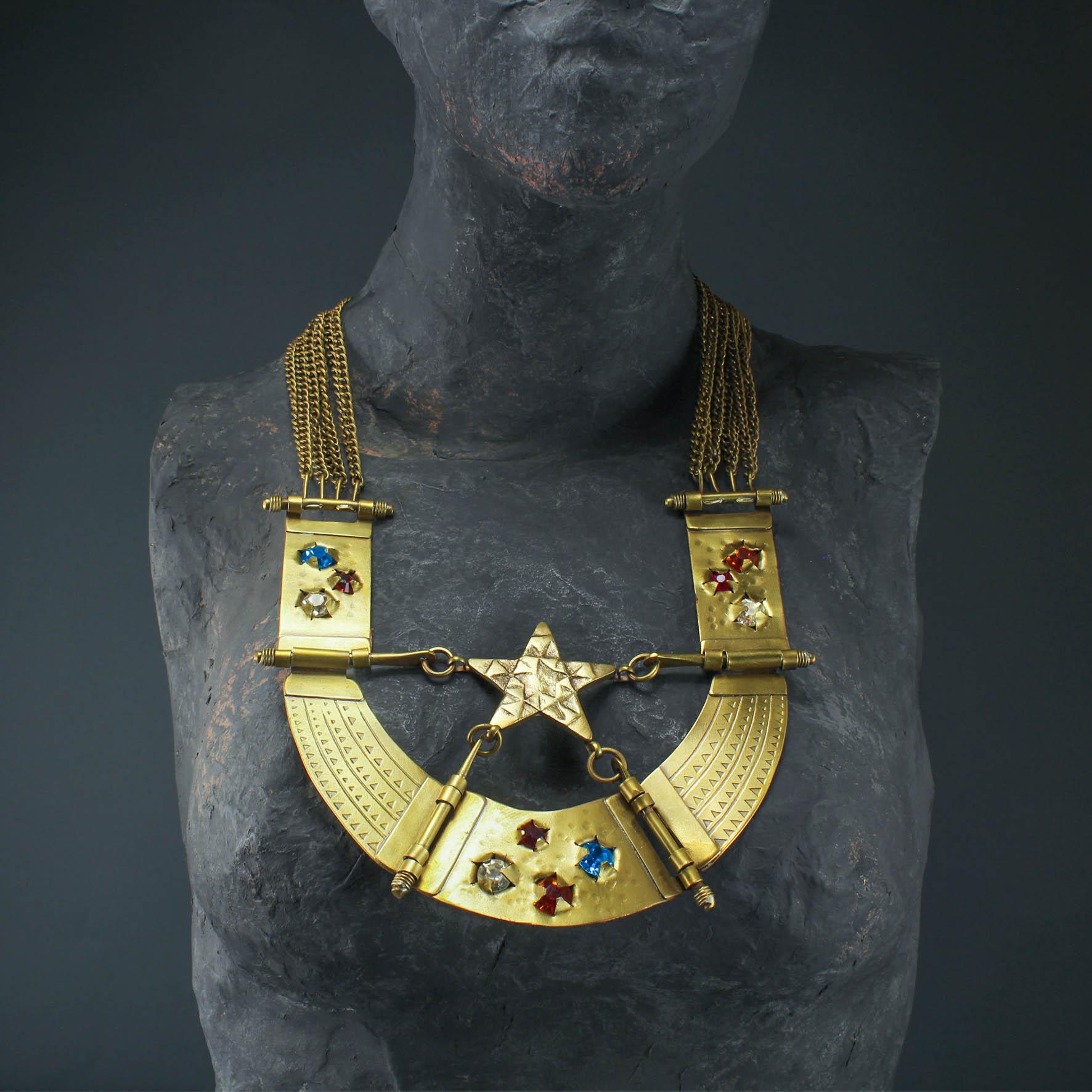 Crystal stars Collar