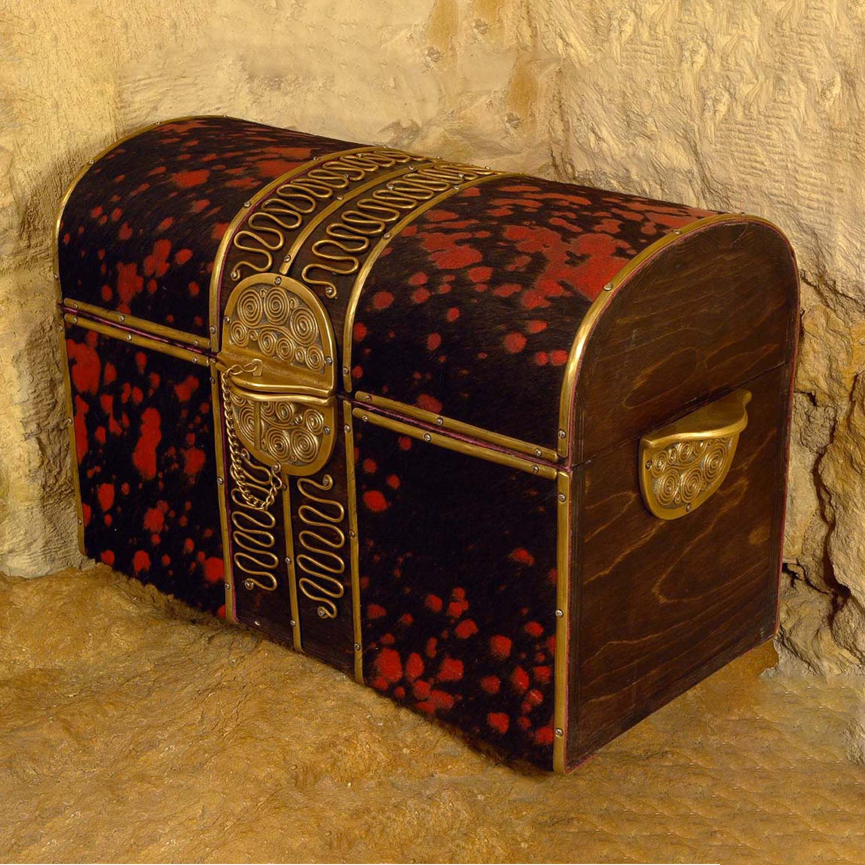 Hair leather Dome Box SMALL
