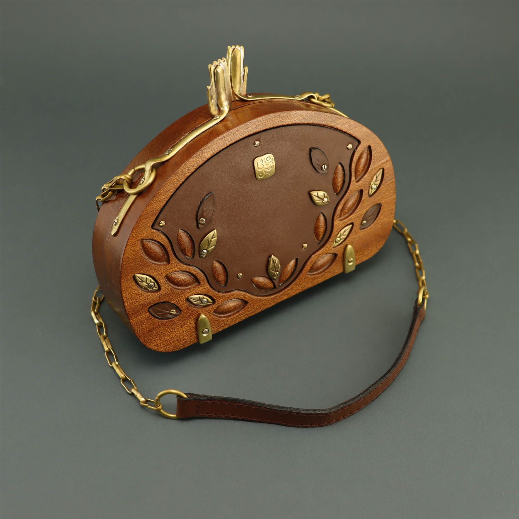 Tree of life wooden bag